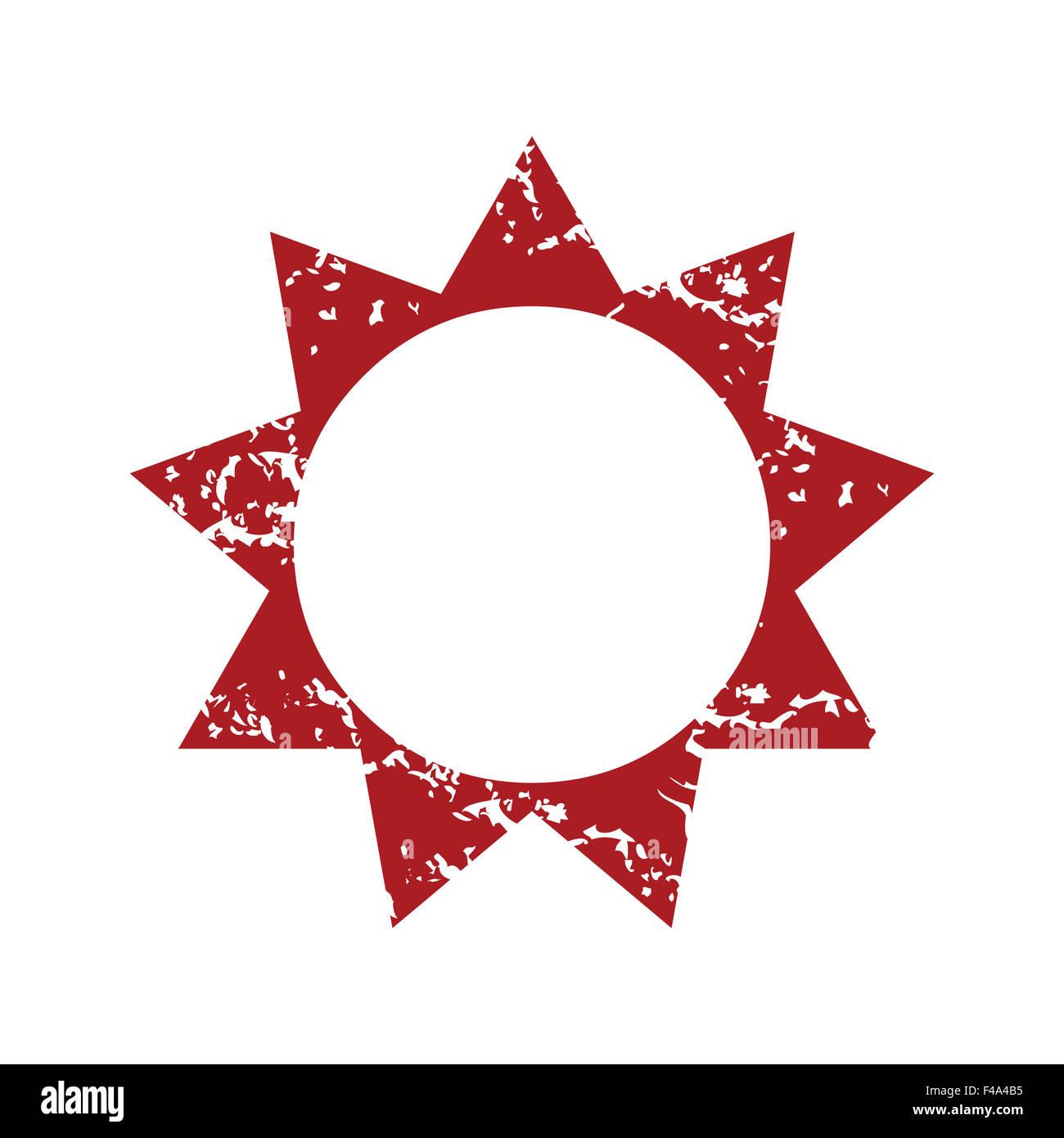 Red grunge sun logo stock photo royalty free image 88733433 alamy red grunge sun logo buycottarizona Images