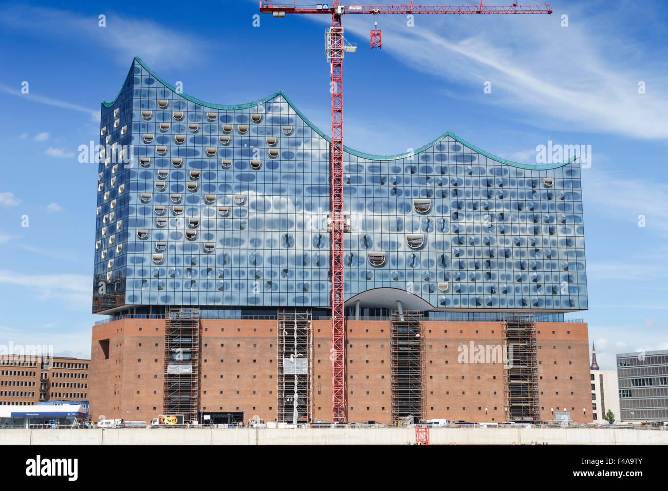 Stock photo hamburg germany riverside new - Hamburg Germany Riverside New Opera House Under Construction In Mid 2015