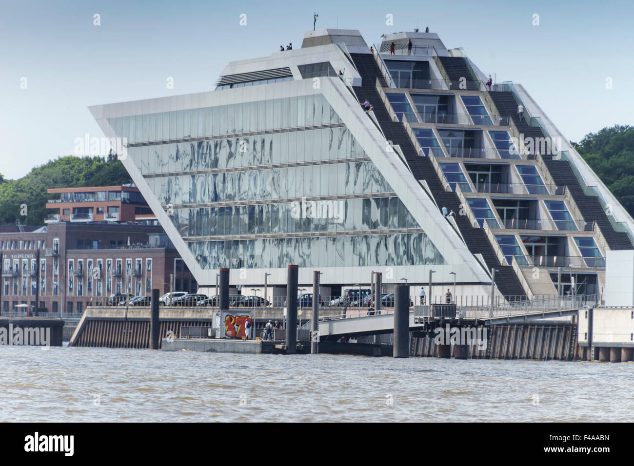 Stock photo hamburg germany riverside new - Hamburg Germany Riverside Architecture