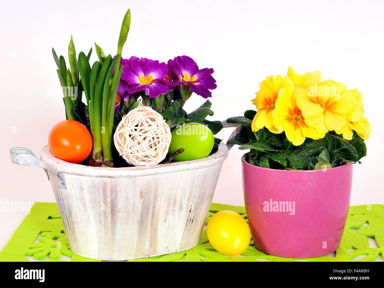 Easter Spring Flower Arrangements Stock Photo, Royalty Free Image ...