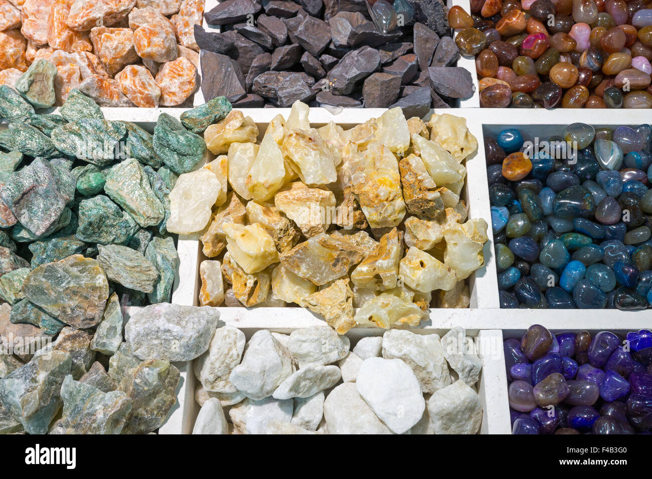 Colourful semi-precious stones Stock Photo, Royalty Free Image ...