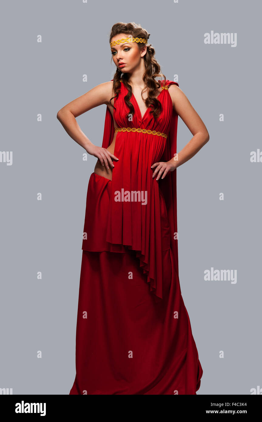 The dress goddess - Stock Photo Girl In The Dress Of The Greek Goddess