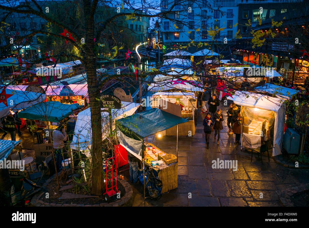 England london camden market outdoor food court dusk for Outdoor food market