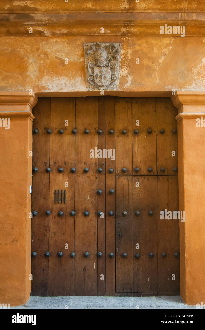 Ornate Carved Door. The old city has ornately carved heavy wooden ...