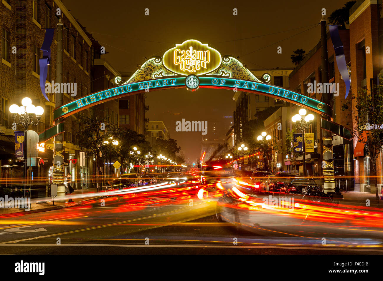 The Gaslamp Quarter In Downtown San Diego, CA