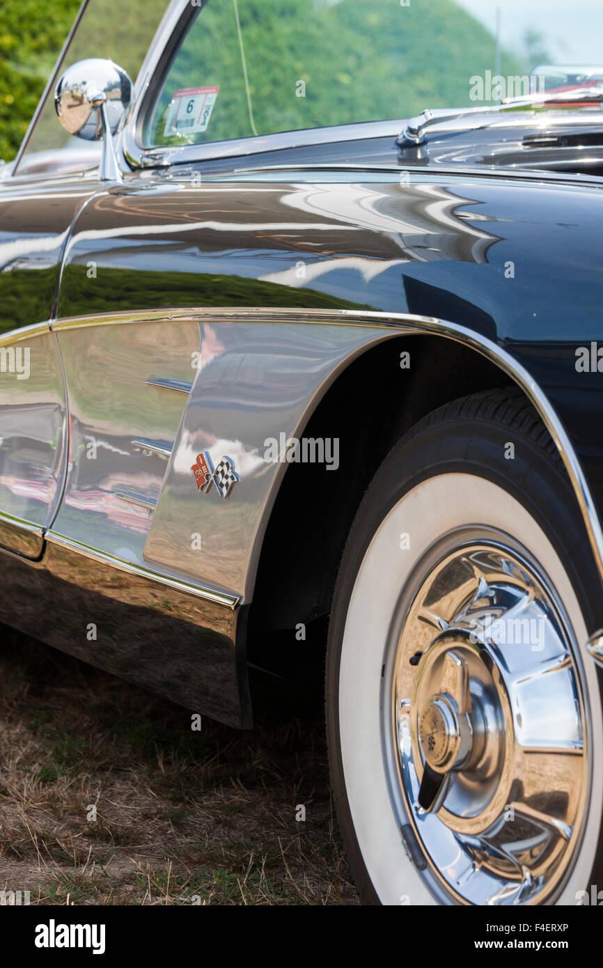 Massachusetts, Gloucester, Antique Car Show, 1960 Corvette Stock ...