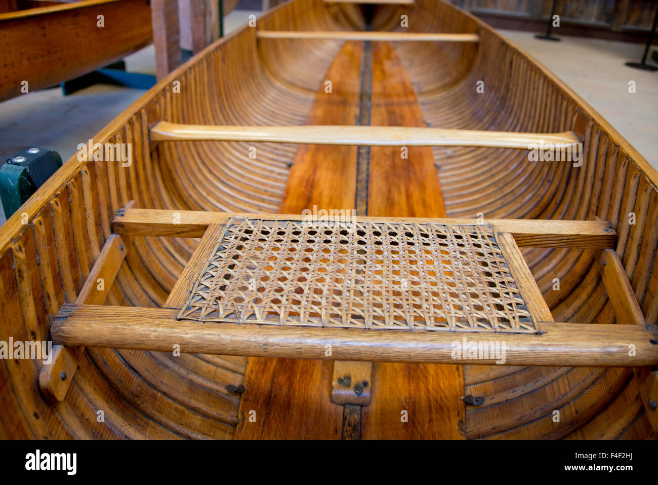 New York, Clayton. Antique Boat Museum.16 foot vintage Peterborough Stock Photo, Royalty Free ...