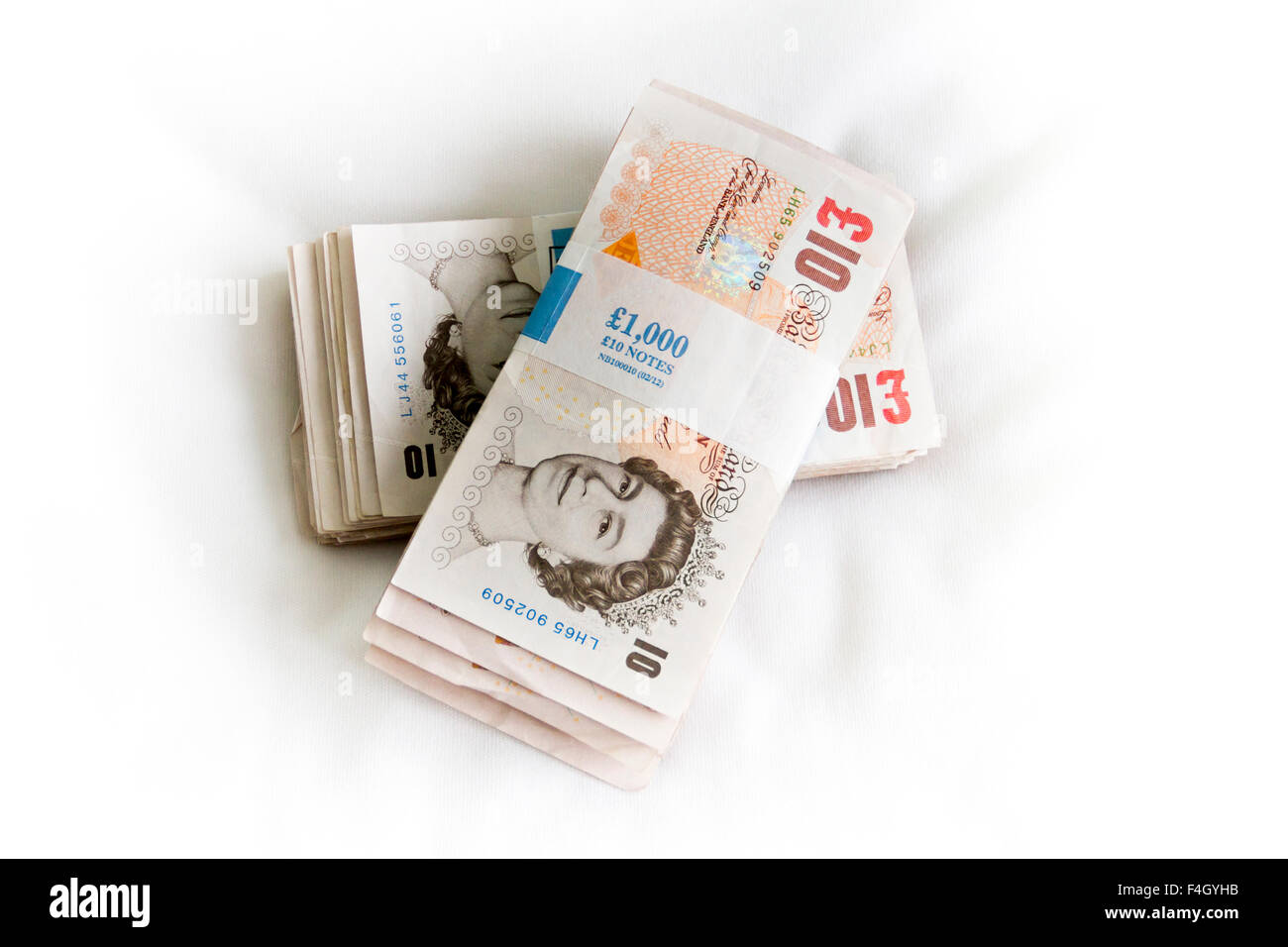 bank notes bundles stock photos bank notes bundles stock images two thousand pound bundles of ten pound notes sterling stock image