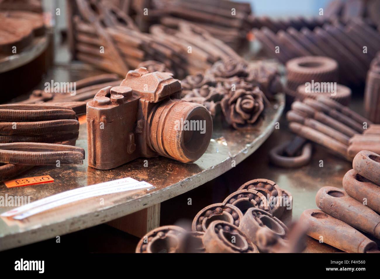 London, UK. 18th October 2015 - Analog camera made of chocolate ...