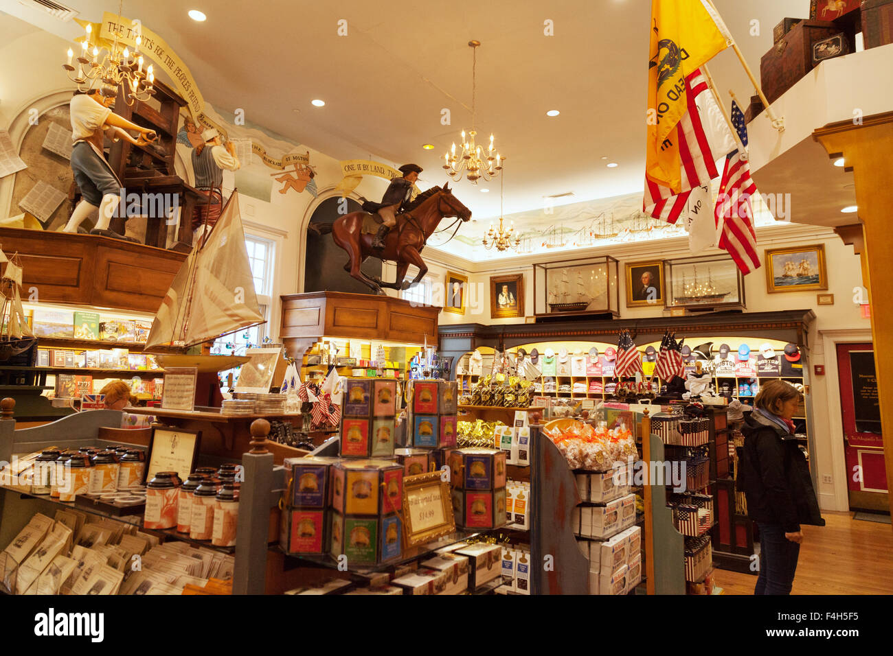 The Gift Shop Interior Boston Tea Party Ships Museum Boston Stock Photo 88887993 Alamy