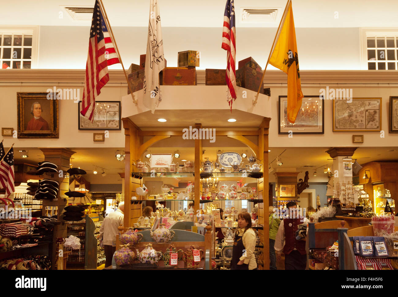 The Gift Shop Interior Boston Tea Party Ships And Museum Boston Stock Photo Royalty Free