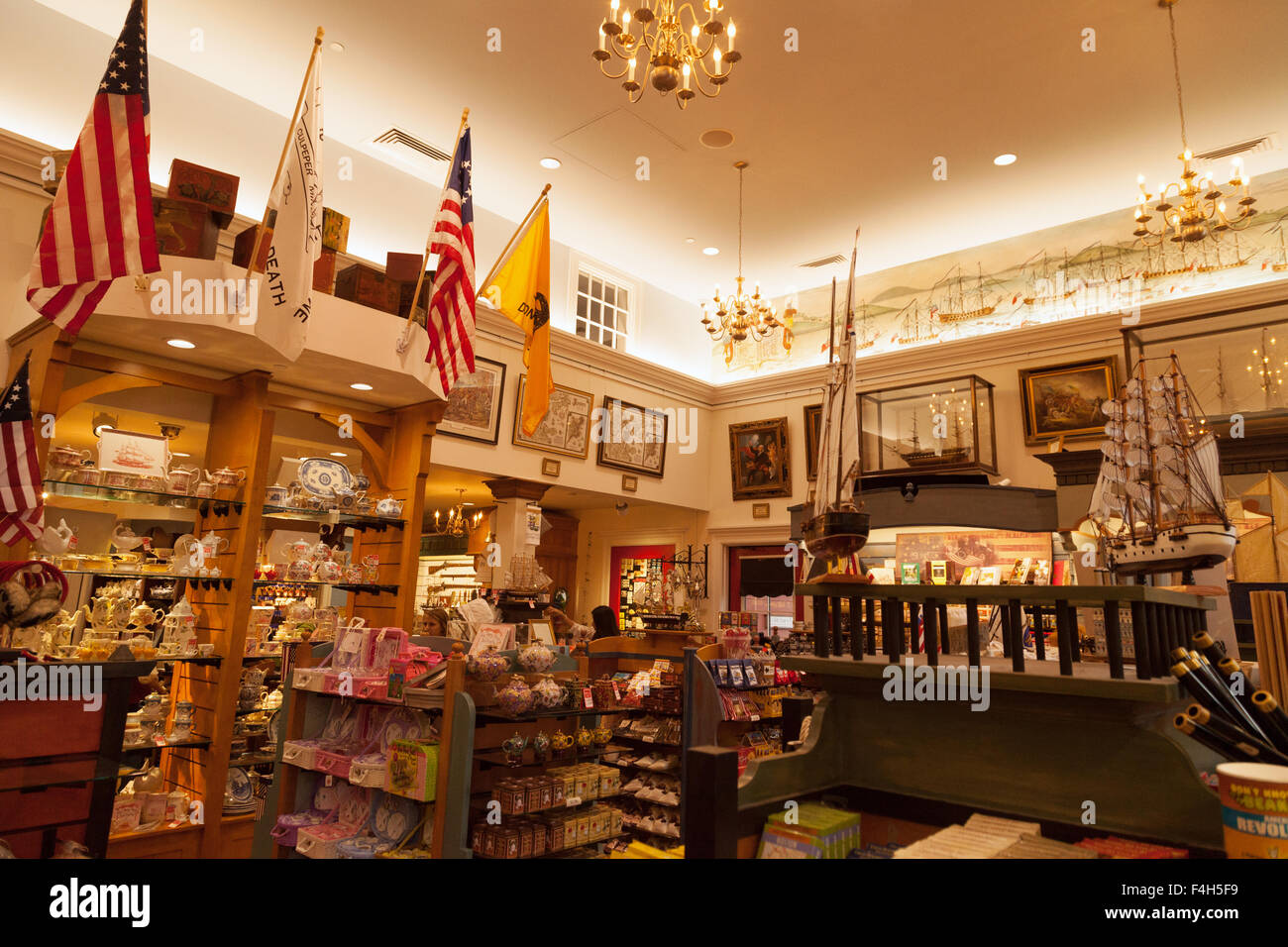 The Gift Shop Interior Boston Tea Party Ships Museum Boston Stock Photo Royalty Free Image