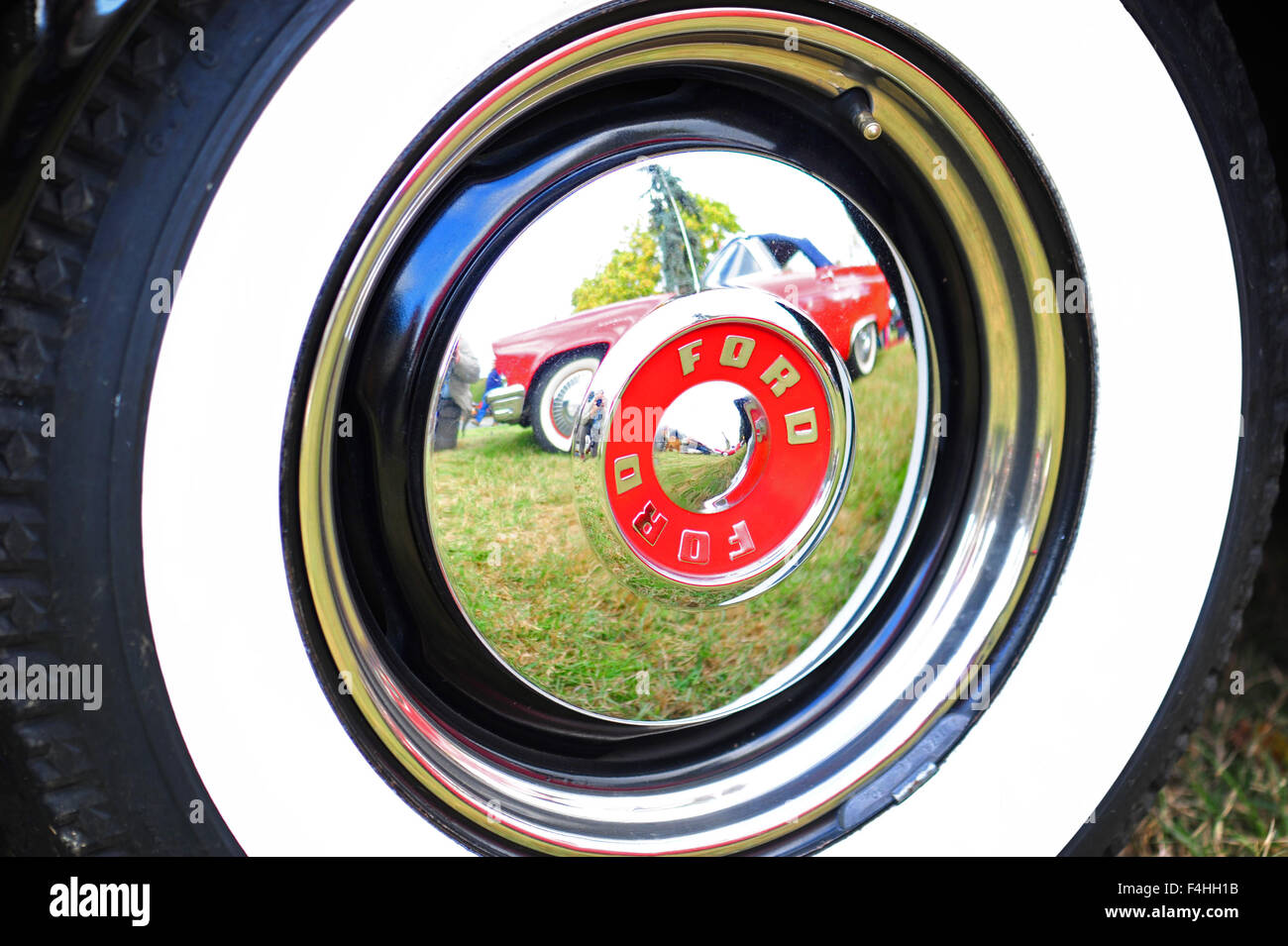 Classic American 1950s era Ford Thunderbirds cars car at an ...