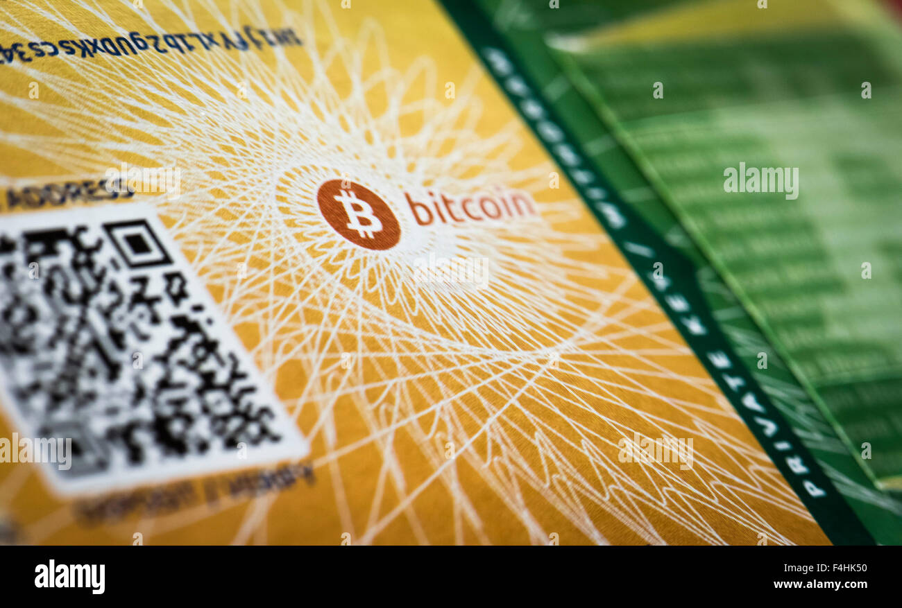 Close Up Of A Physical Bitcoin Paper Wallet