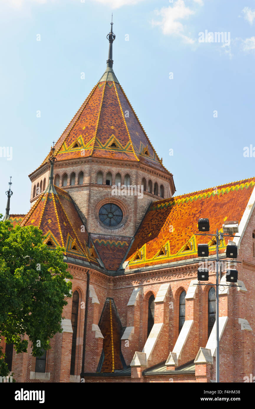 A church with red ceramic tiles in budapest hungary stock photo a church with red ceramic tiles in budapest hungary dailygadgetfo Choice Image