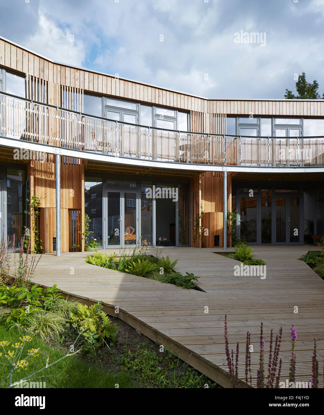 Front Elevation Of Houses In London : Front elevation with timber decked garden eco vale