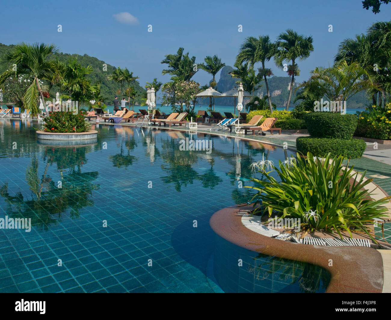 Luxury hotel on a beach at phi phi islands andaman sea thailand southeast asia asia