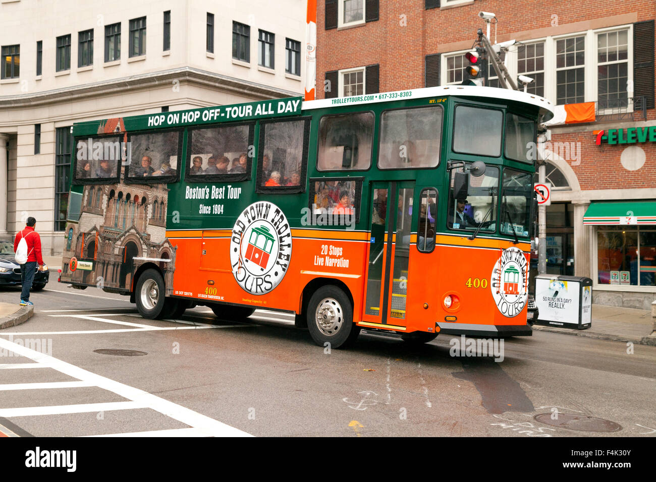 Boston Tourist Trolley Bus From Old Town Tours Massachusetts USA