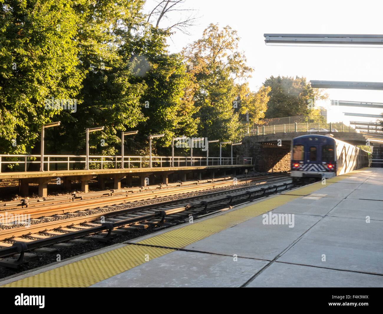 botanical garden, metro-north train station, new york stock photo