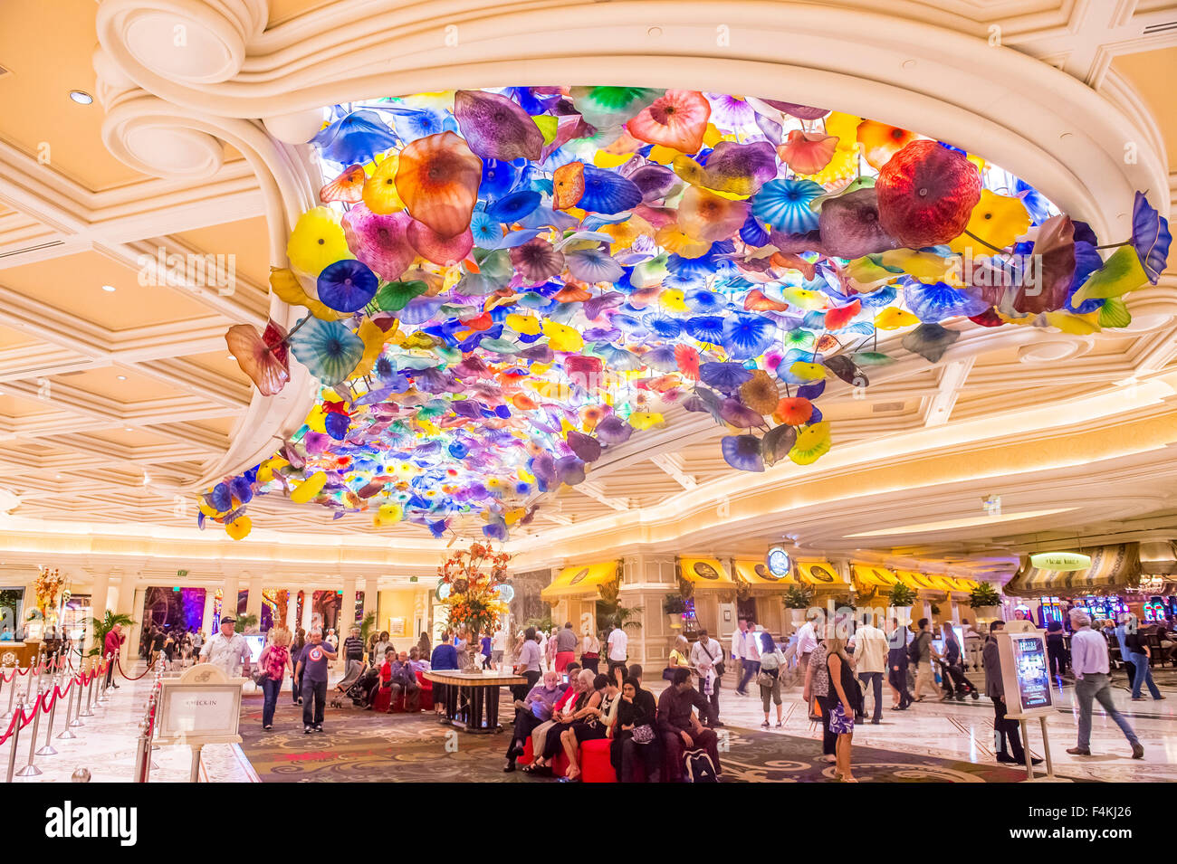 Bellagio las vegas bellagio hotel las vegas - The Interior Of Bellagio Hotel And Casino In Las Vegas Stock Image