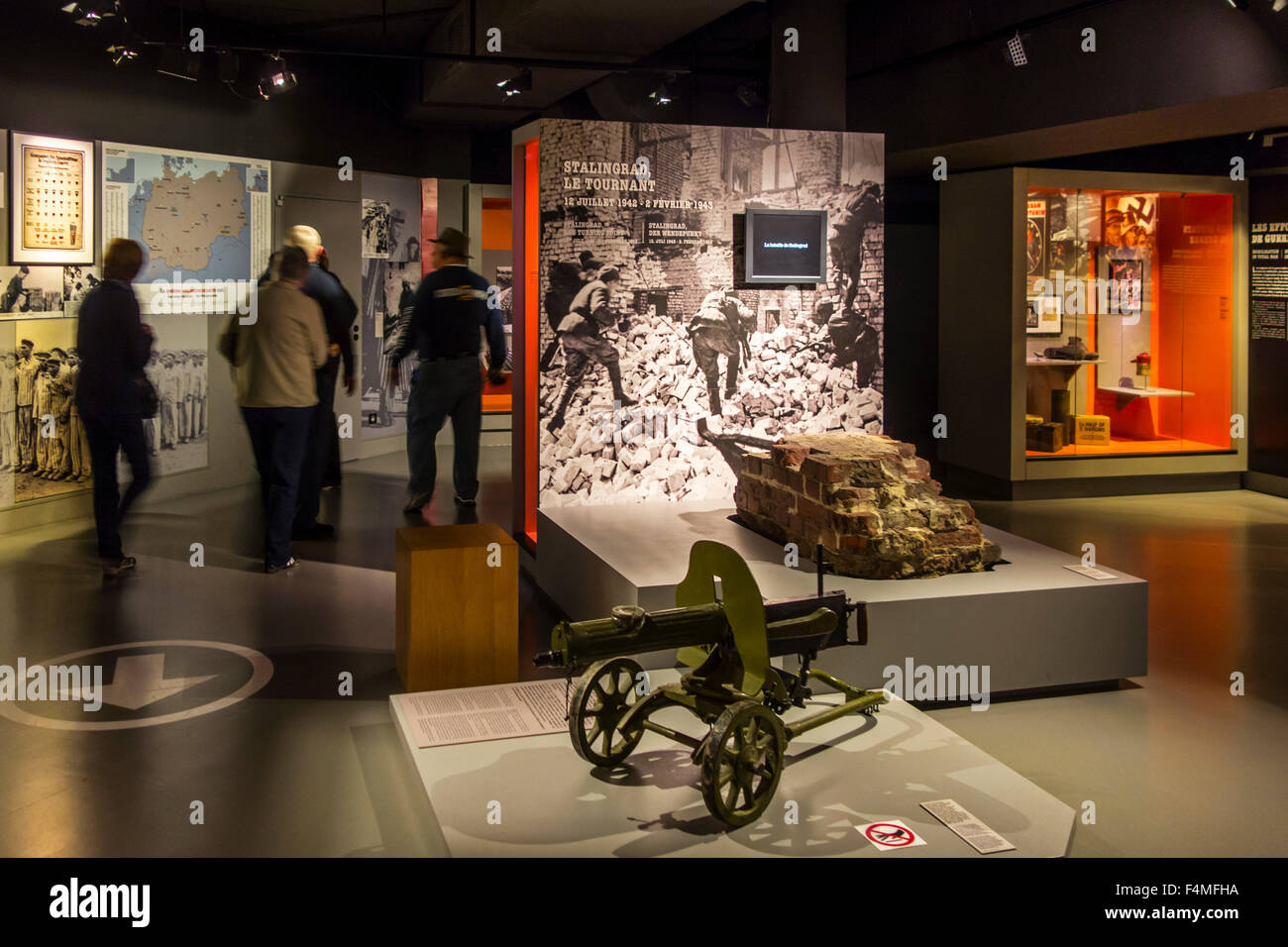 tourists visiting the m morial de caen museum and war memorial in stock photo royalty free. Black Bedroom Furniture Sets. Home Design Ideas