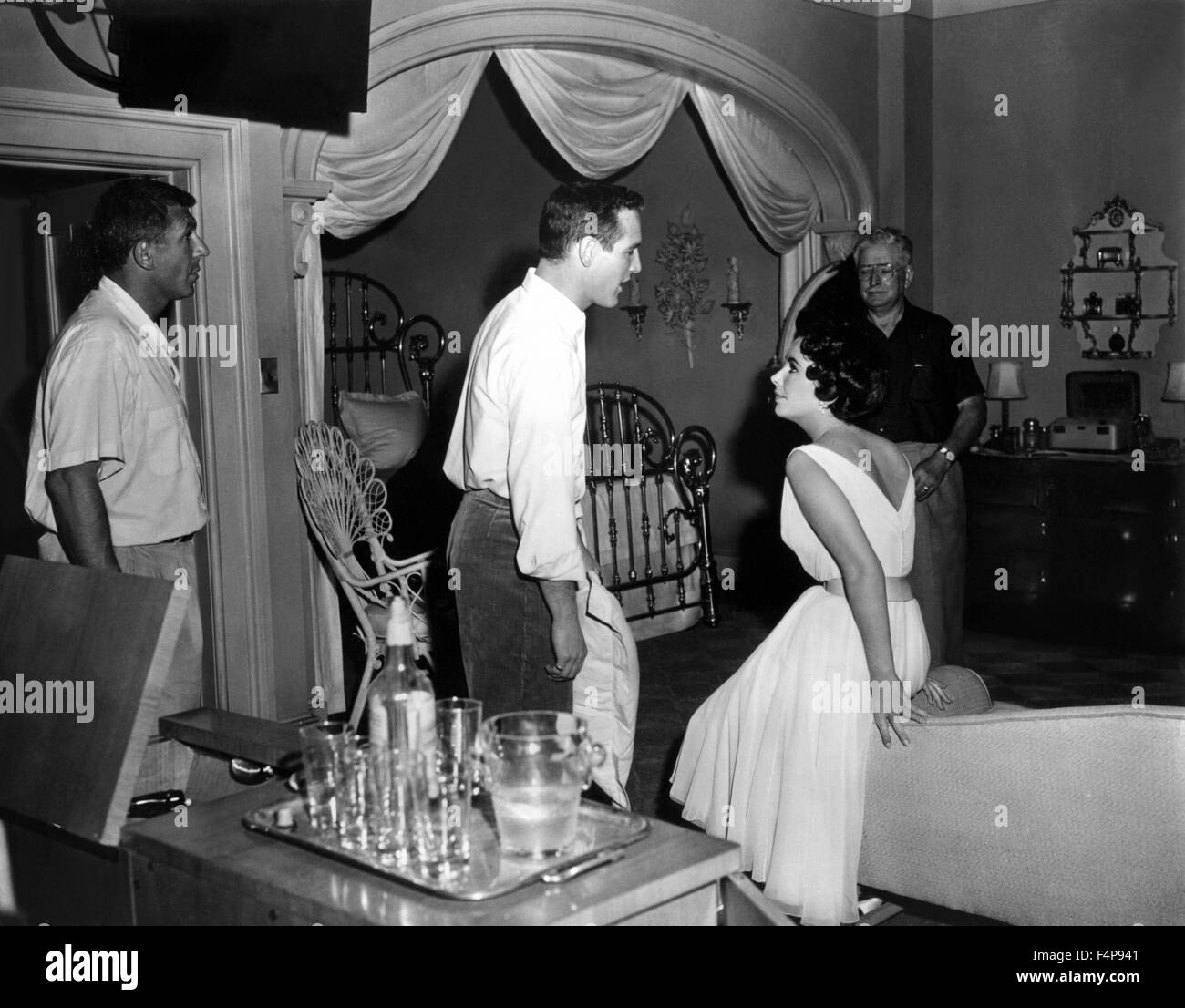 Paul Newman Elizabeth Taylor Richard Brooks Cat On A