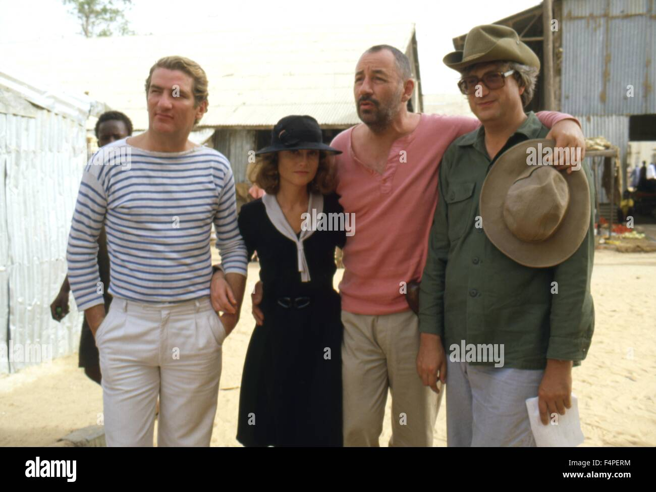 On the set eddy mitchell isabelle huppert philippe noiret and stock photo royalty free image - Isabelle huppert coup de torchon ...