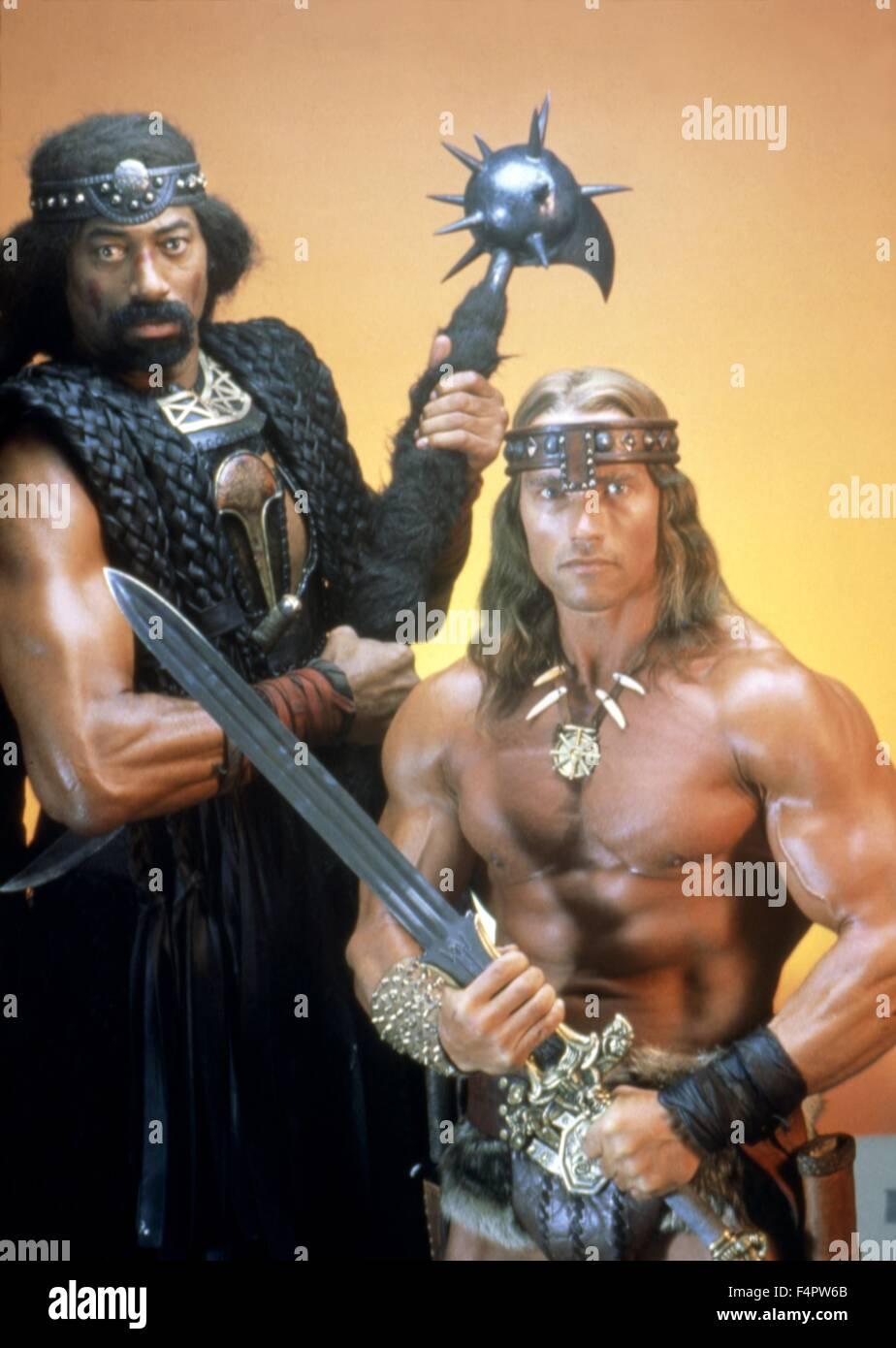 Wilt Chamberlain and Arnold Schwarzenegger Conan the Destroyer