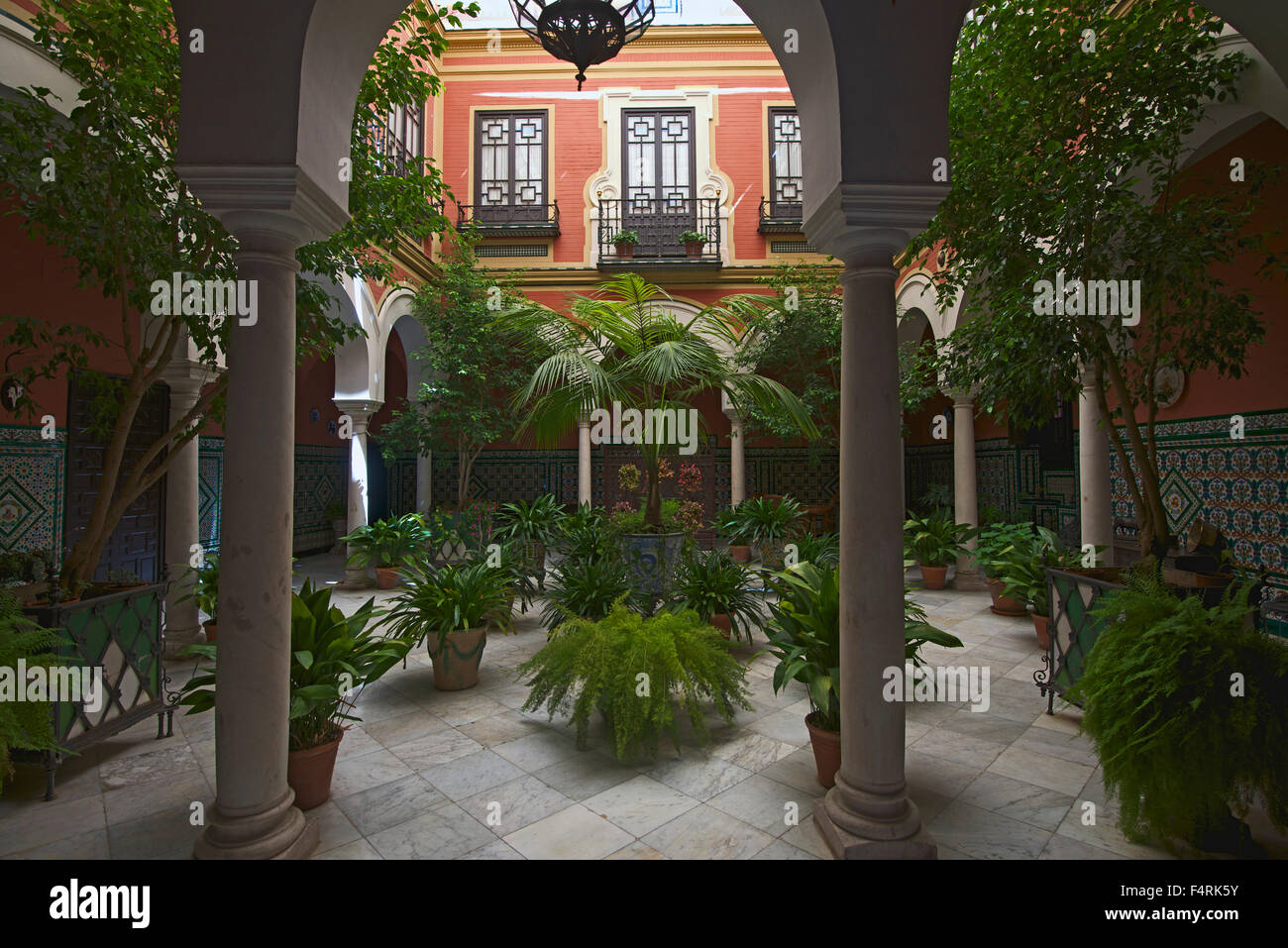 andalusia, spain, europe, outside, day, inner courtyard, house