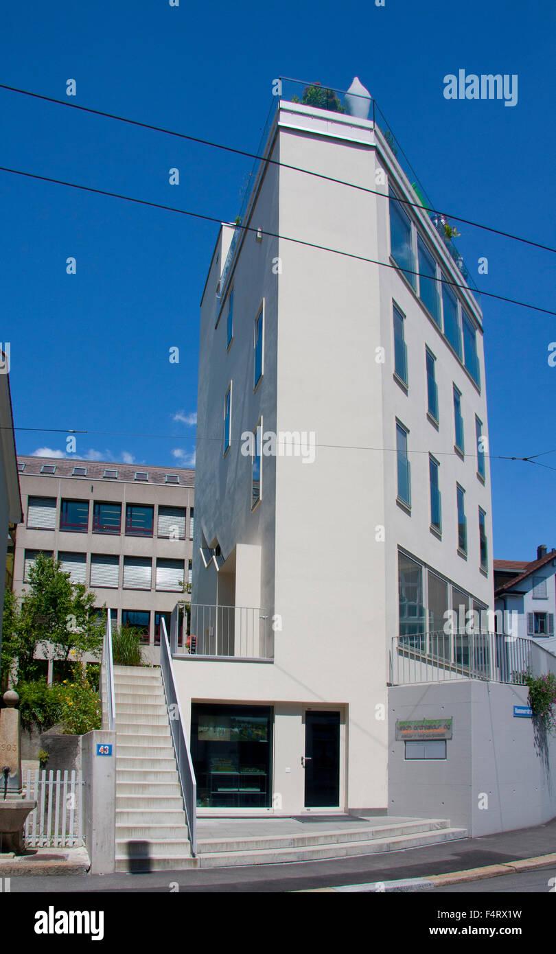 Modern Architecture Zurich zurich, switzerland - new building, modern architecture stock