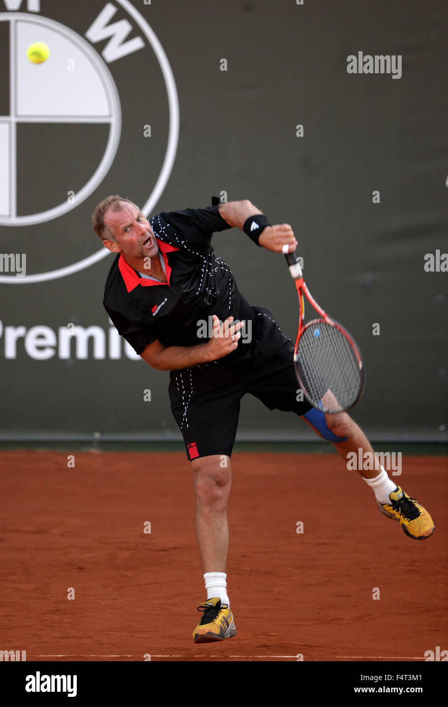 Thomas Muster former professional tennis player playing a match