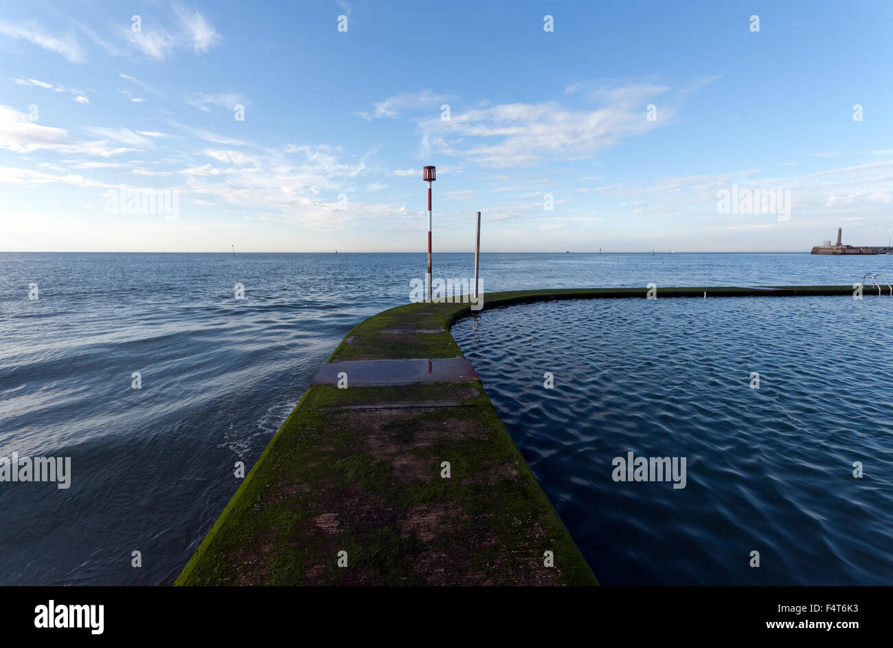 Wide Angle View Of Part Of The Sea Water Bathing Pool In The Bay Stock Photo Royalty Free