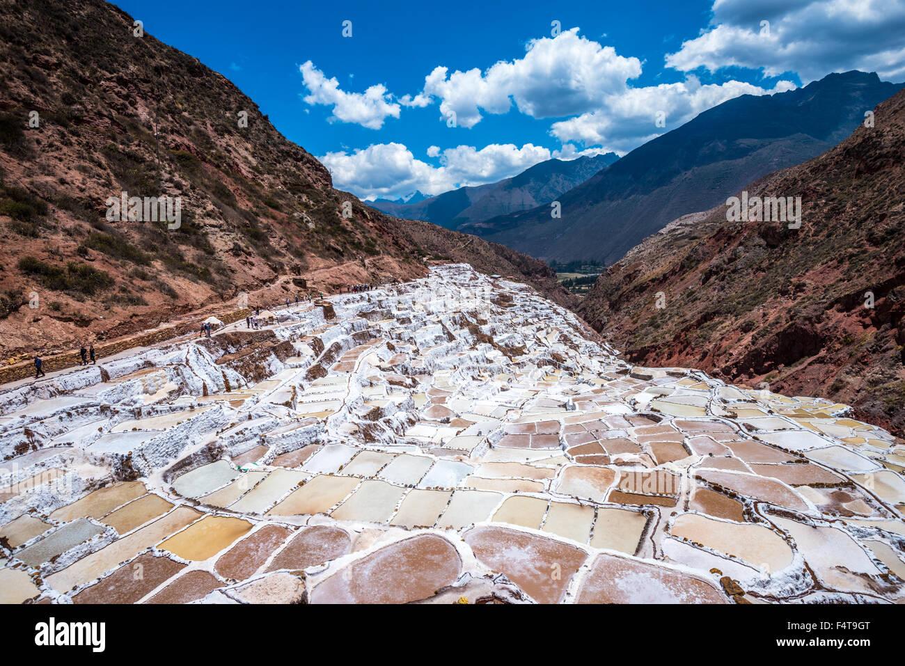 Mountain living near cusco peru royalty free stock photo - Salinas De Maras Man Made Salt Mines Near Cusco Peru