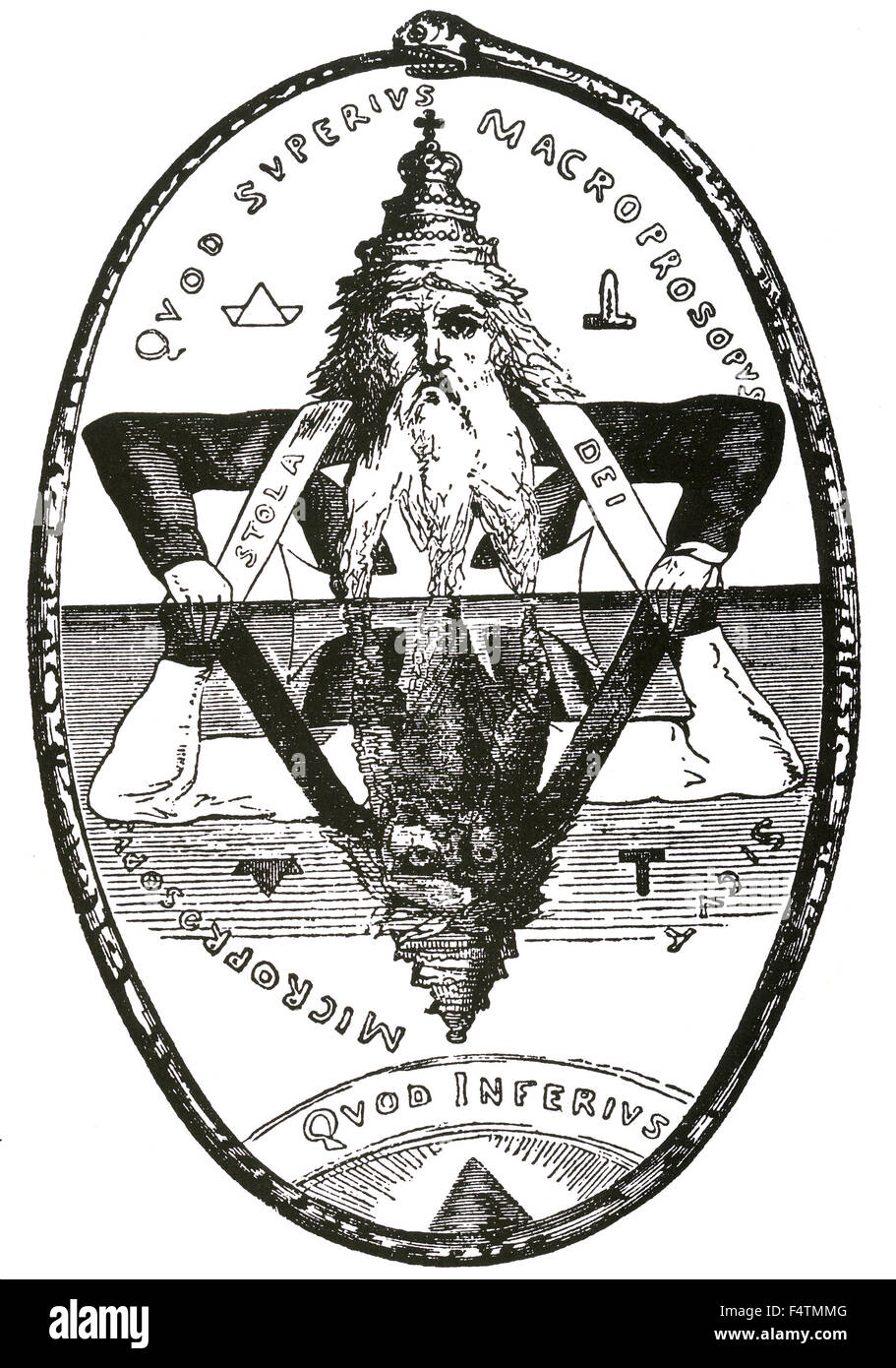Witchcraft symbol stock photos witchcraft symbol stock images great symbol of solomon from the 1896 edition of eliphas levis book dogme et rituel de buycottarizona