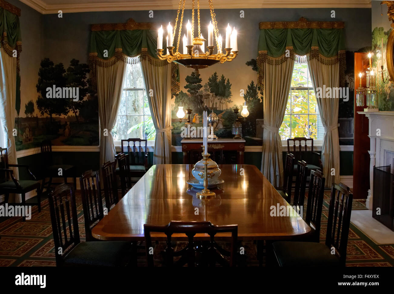 The Dining Room At Gracie Mansion Home Of New York Citys