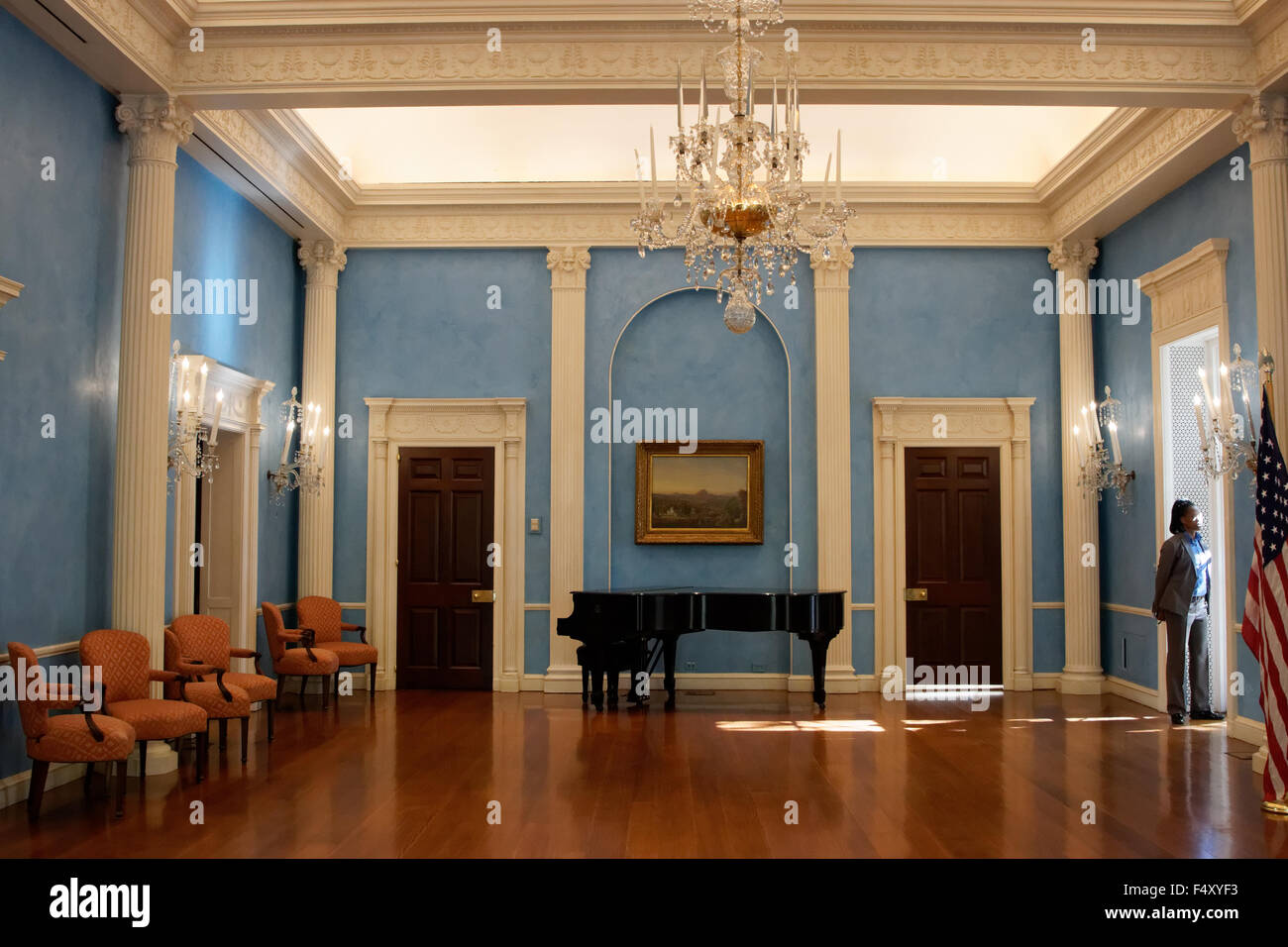 The ballroom in gracie mansion the 18th century home of for Mansion floor plans with ballroom