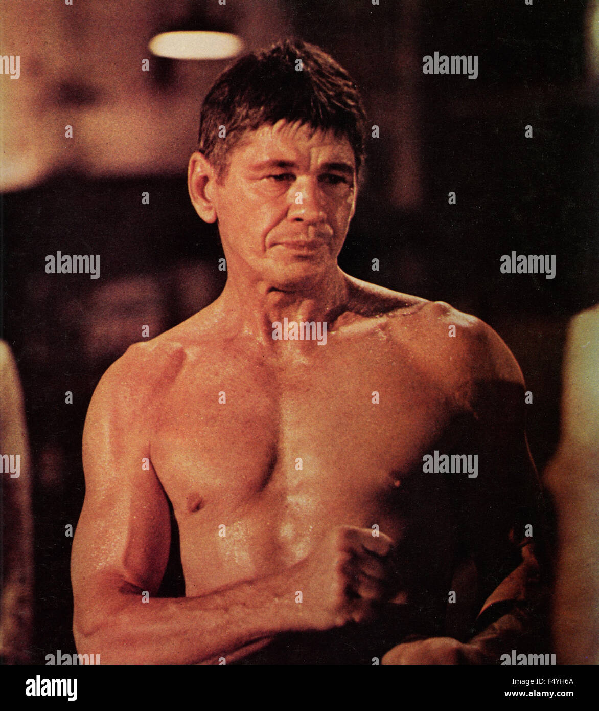 the american actor charles bronson in a scene from the