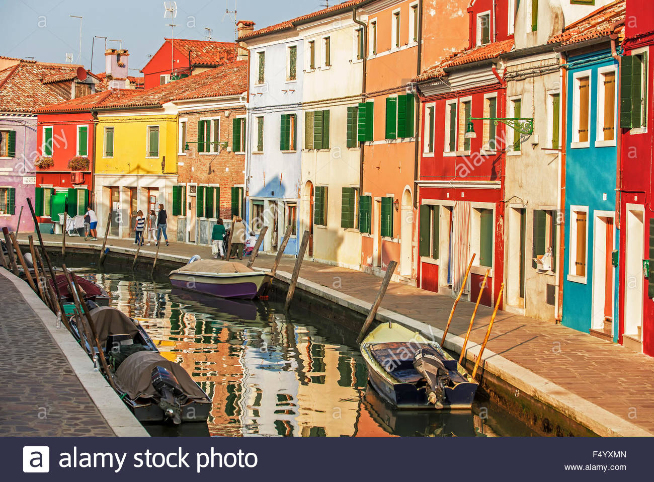 Colorful burano italy burano tourism - Stock Photo The Colorful Houses Of Burano A Small Island In The Lagoon Of Venice Much Visited By Tourists From Around The World