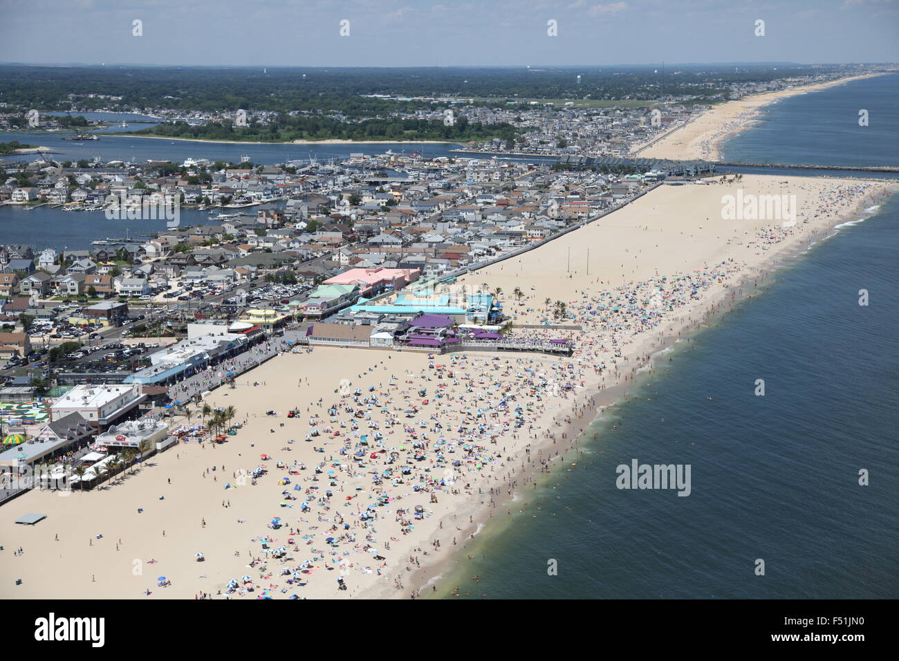 Aerial View Of Point Pleasant Beach New Jersey Stock Photo Royalty Free Image 89161772 Alamy