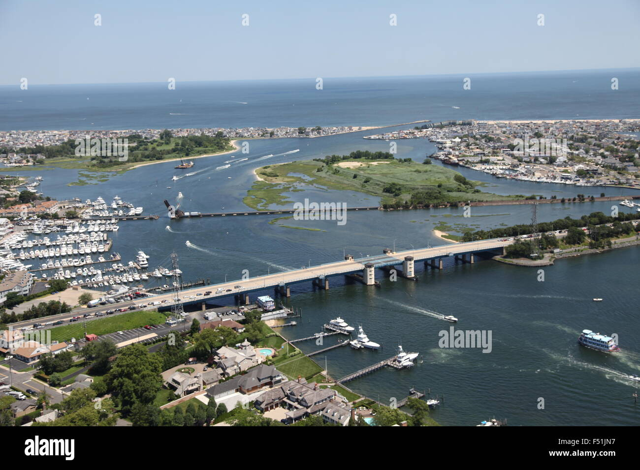 Aerial view of manasquan river and manasquan inlet near for Manasquan inlet fishing