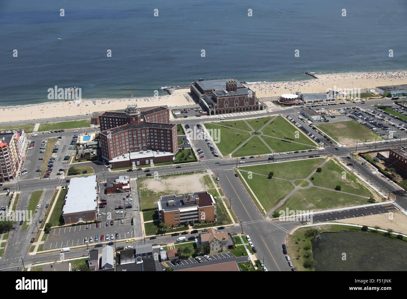 Aerial View Of Convention Hall Asbury Park New Jersey