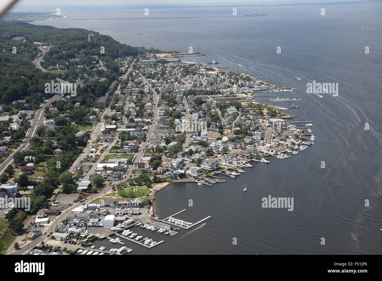 Aerial view of atlantic highlands and raritan bay new for Atlantic highlands fishing