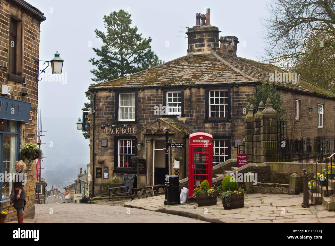 Haworth Village West Riding Of Yorkshire England The
