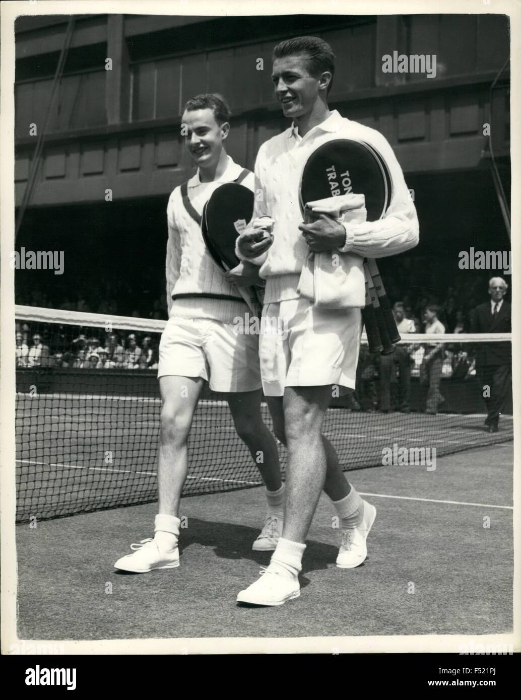 1962 Wimbledon Trabert v Wilson Keystone Shows R K