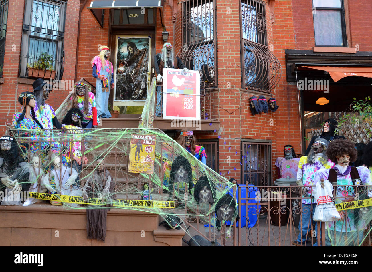 stock photo halloween decorations brooklyn park slope new york pumpkins for sale outside shop - Halloween Decorations Sale