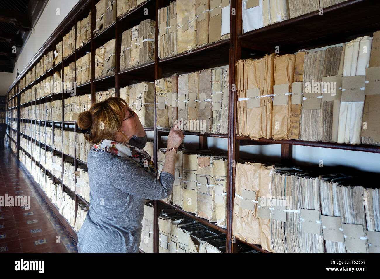 w researching the archives of palacio de las cadenas ograve beda stock photo w researching the archives of palacio de las cadenas ogravebeda andalusia spain