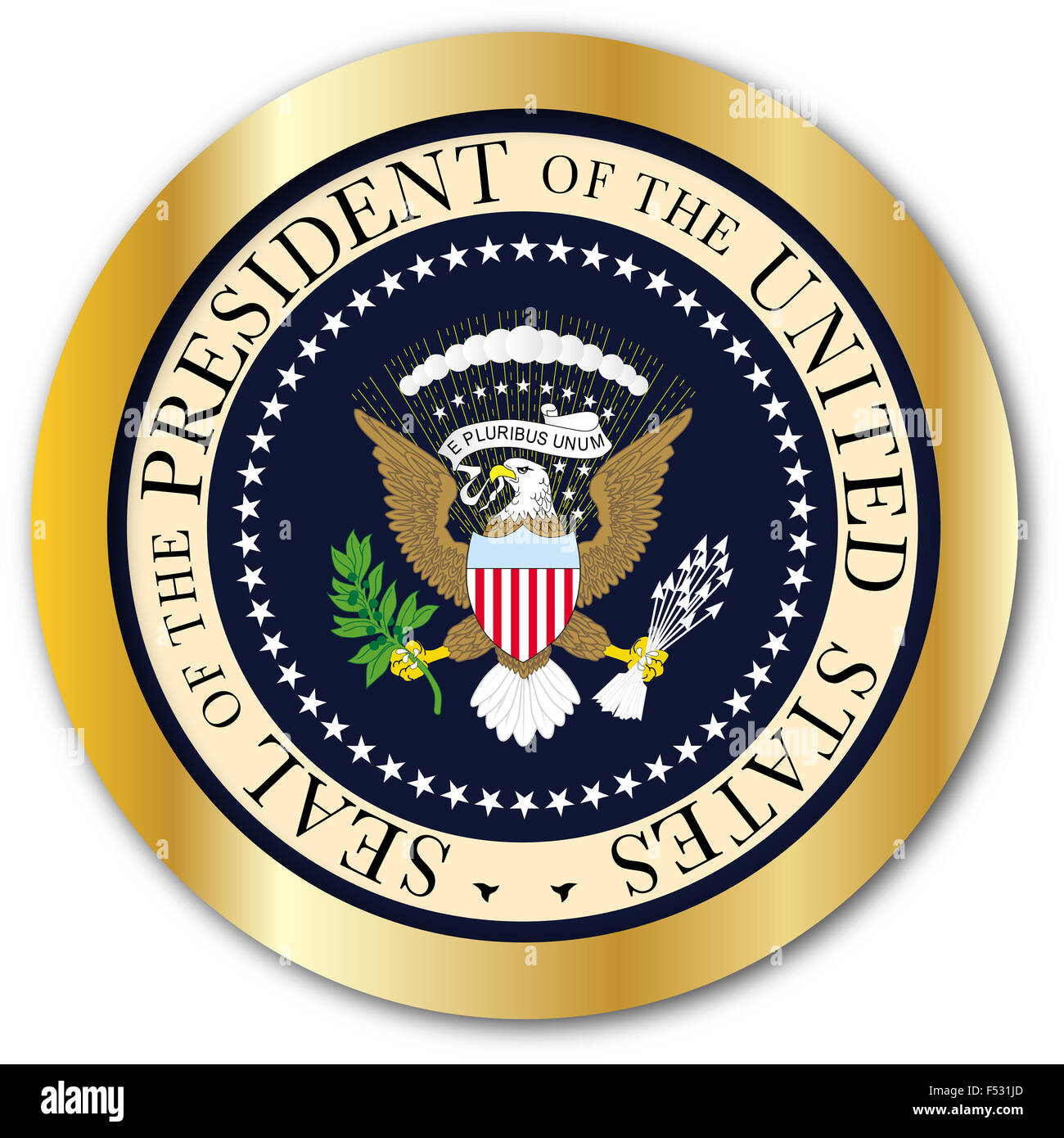 a depiction of the seal of the president of the united states of america as a - Presidents Of The United States Of America