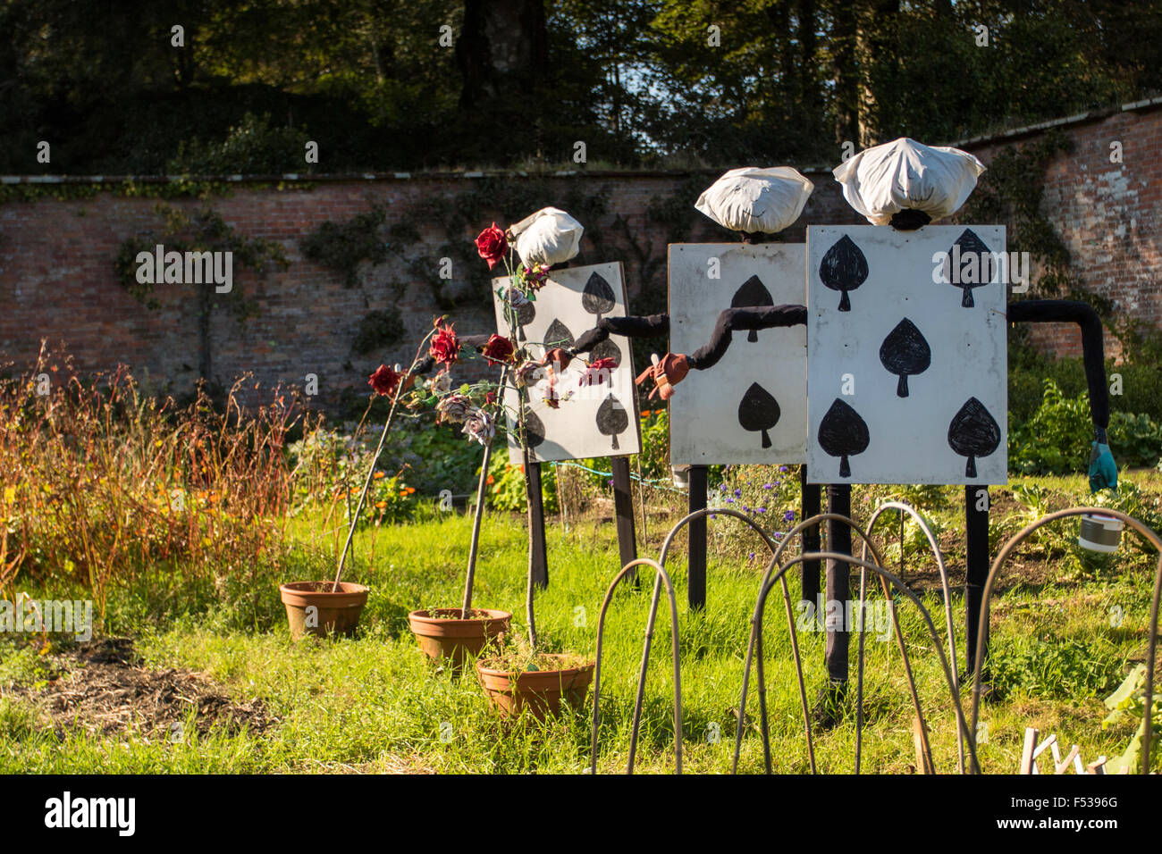 Alice In Wonderland Scarecrow Garden Stock Photo Royalty Free