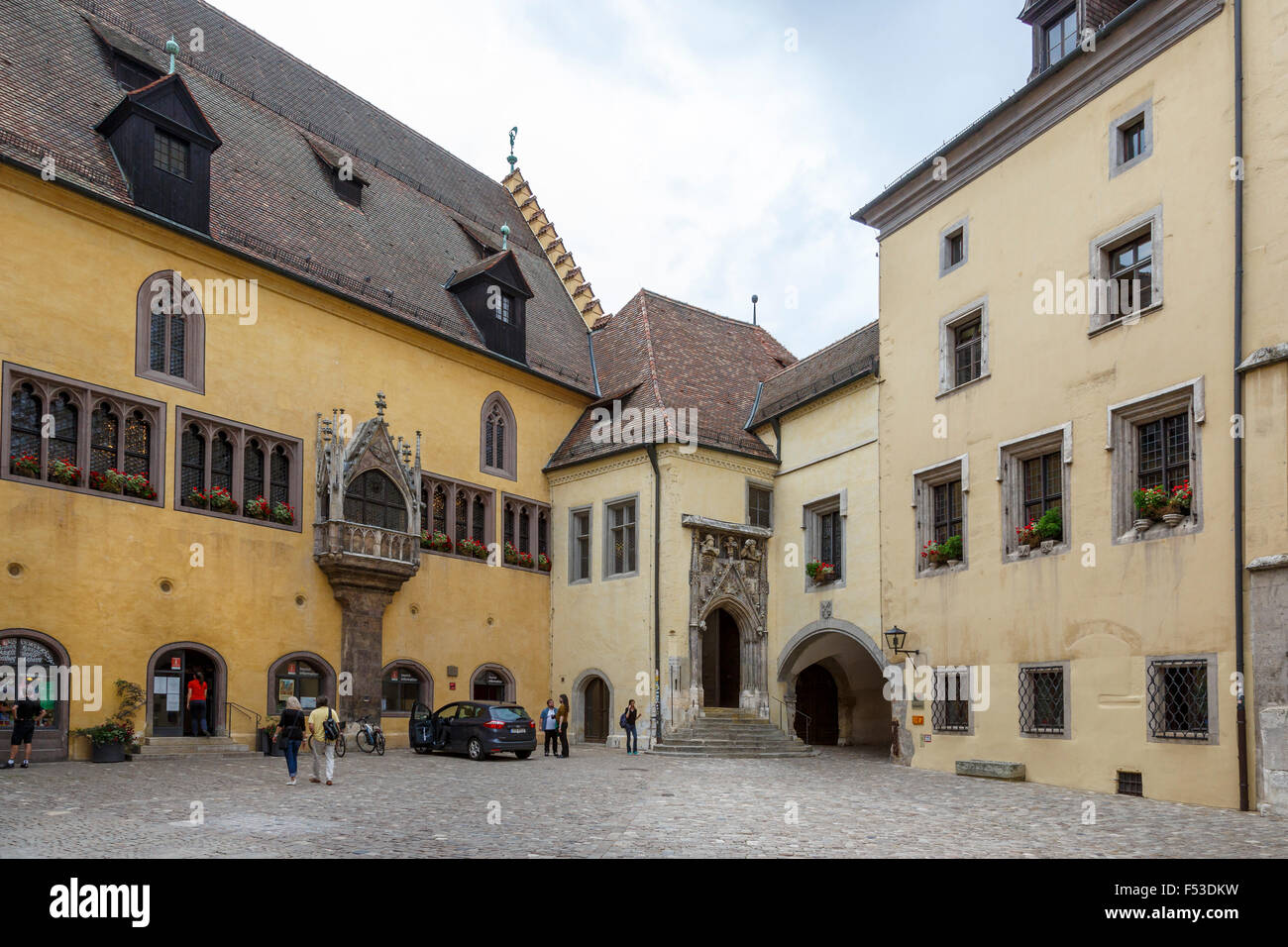 the courtyard of the imperial hall reichssaal old town hall stock photo royalty free image. Black Bedroom Furniture Sets. Home Design Ideas