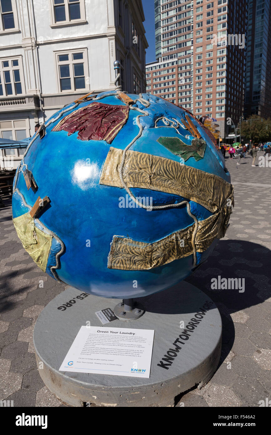 Cool Globes Hot Ideas For A Cooler Planet Battery Park NYC USA